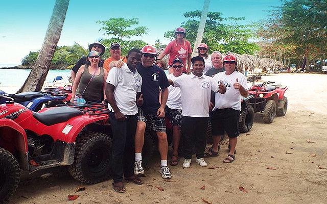 ATV Excursions in Samana to famous Playa Rincon beach.
